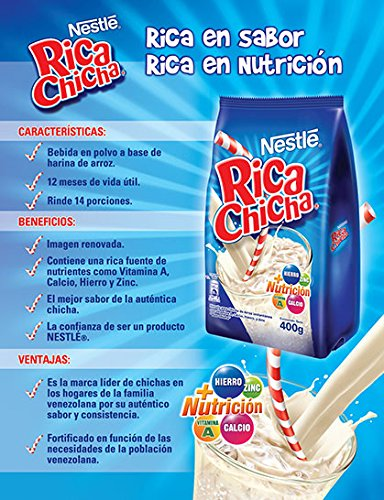 Amazon.com : Rica Chicha Drink Mix Venezuelan Flavor 400gr : Grocery & Gourmet Food