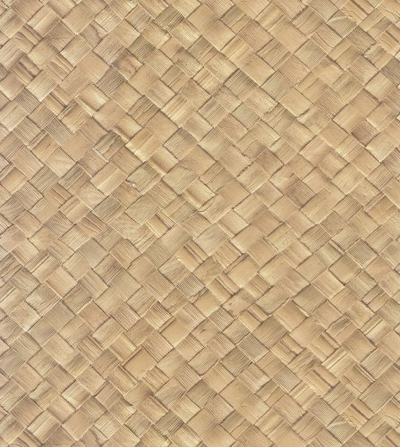Brewster 431-7308 Destinations by The Shore Basket Weave Wallpaper, 20.5-Inch by 396-Inch, Brown (Weave Wallpaper)