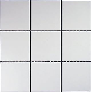 Matten Mosaikfliesen Salz Und Pfeffer WeißSchwarz Matte - Weiße fliesen 10x10