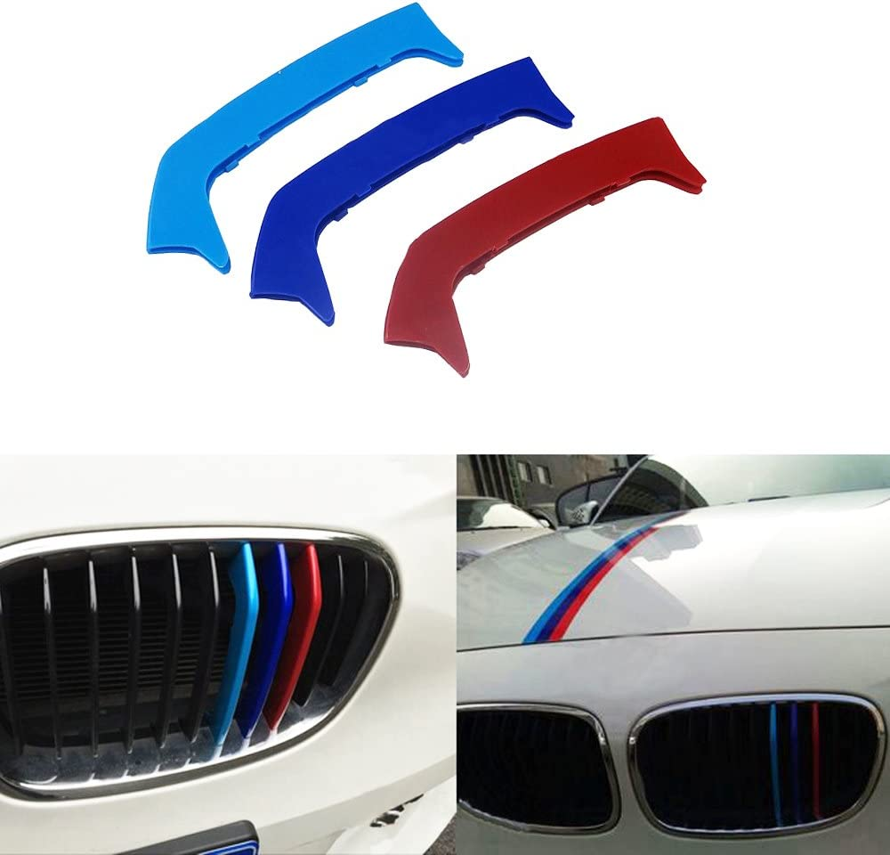 -Kidney Grills Insert accessories-M-Color Front Grille Stripe Decals For 7 Series G11//G12 740i 750i 2016-2017 9 Grilles