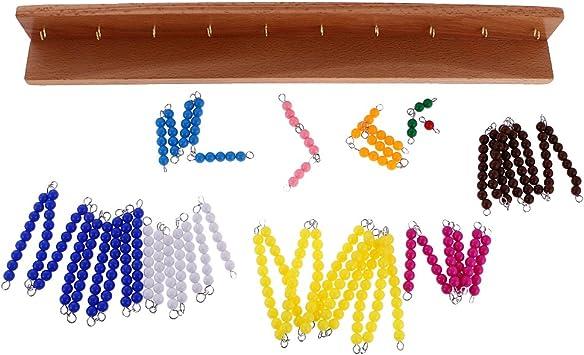 MagiDeal Jeux Educatif Enfants Montessori Perles Mat/ériel Math/ématiques Exercice Calcul de Racine Carr/ée Jouets dApprentissage Pr/écoce