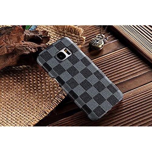 HeiL S7edge TPU *Fast US Deliver Guarantee Fulfilled by Amazon* New Elegant Luxury High Quality PU Leather Checker Sales