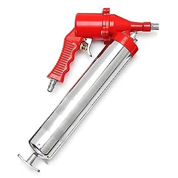 GOZAR Manual De Agarre De Una Mano De Aire Neumática Compresor Bomba De Grasa Pistola Roja: Amazon.es: Hogar