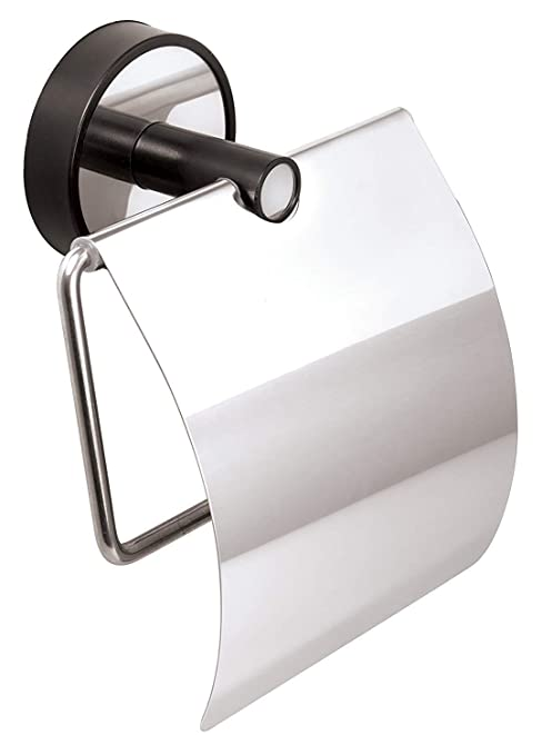 Kapitan baño 18/10 Acero Inoxidable y ABS – Portarrollos de Papel higiénico con Tapa 3 M VHB Montaje en Pared, Garaje AISI 304 18/10, Pulido, 10 años ...