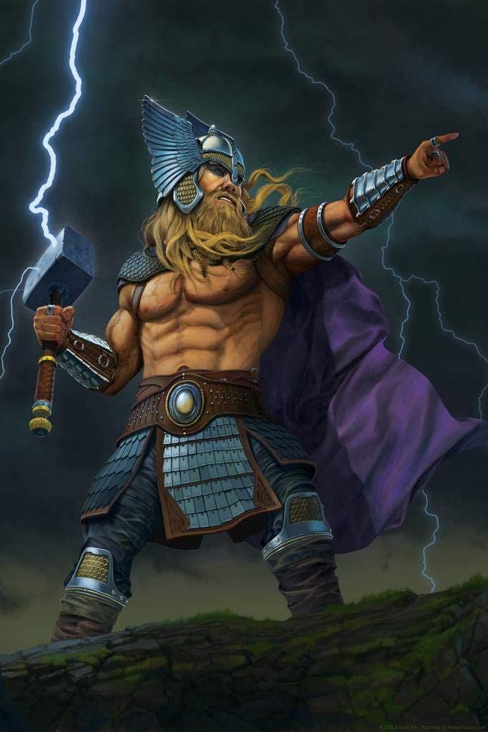 Thor God of Thunder by Vincent HIE Cool Wall Decor Art Print Poster 24x36