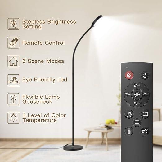 Amazon.com: Lámpara de piso, mando a distancia y control ...
