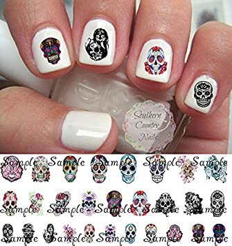Amazon Sugar Skull Nail Decals Assortment 1 Nail Art Decals