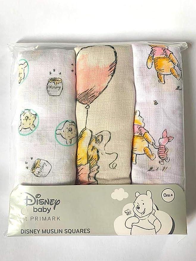 Primark Winnie Pooh Disney - Pañales de gasa, 70 x 70 cm, 3 ...