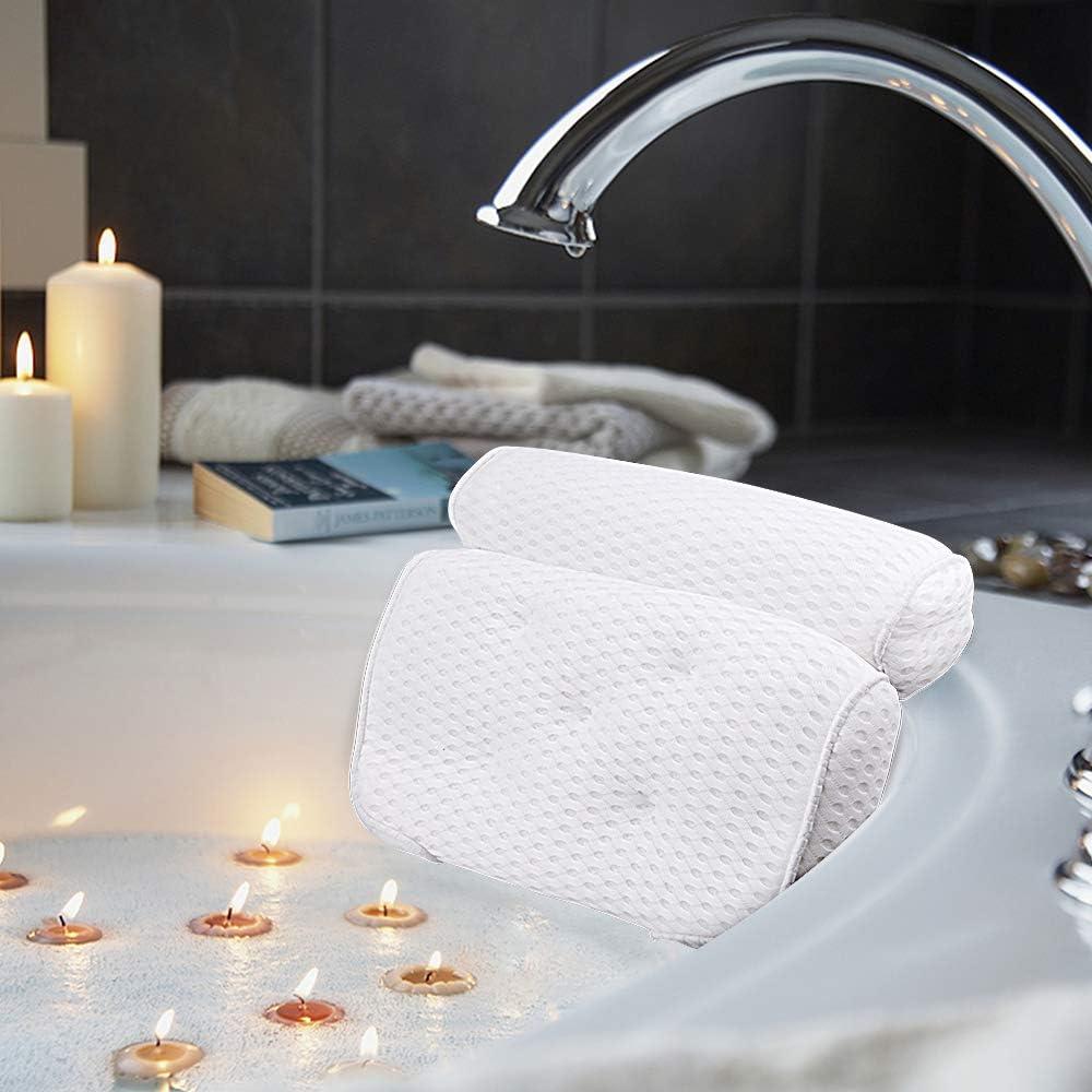 Yardwe TPE Luxury SPA Wasserdichte Bad Kissen Badewanne Kopfst/ütze Saugnapf Schaum Bad K/örper Nebel Rutschfeste Badewanne Kissen Khaki