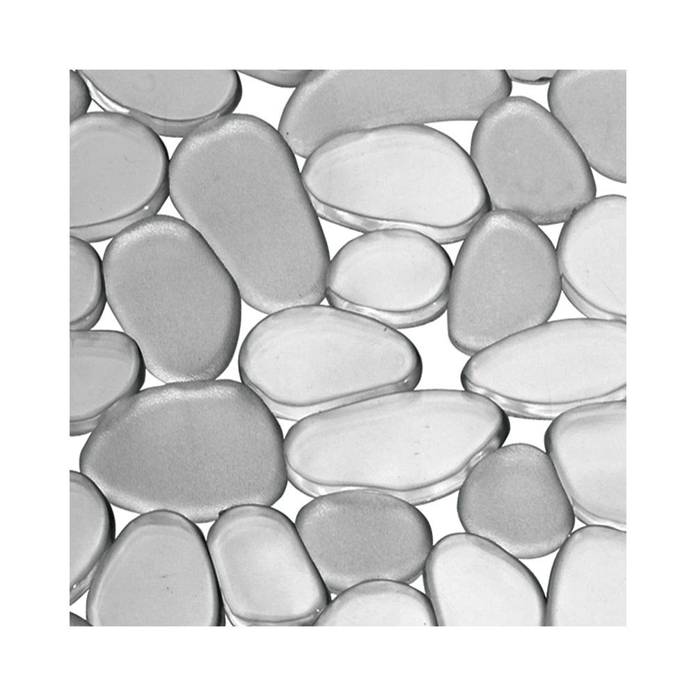 negro Pr/áctico tapete de PVC para la cocina mDesign Juego de 2 alfombrillas antideslizantes y recortables Base para fregadero con dise/ño de guijarros para proteger la vajilla y el fregadero