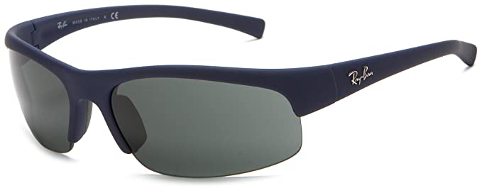 9f37f8101c Image Unavailable. Image not available for. Colour  Ray-Ban RB4039 - BLUE  DOWNPOUR RUBBERIZE Frame GREEN Lenses 63mm Non-Polarized