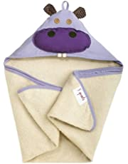 3 Sprouts Hooded Towel, Hippo