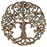 Cheap Old River Outdoors Tree of Life/Birds of Peace Wall Plaque 11 5/8″ Decorative Celtic Dove Garden Art Sculpture