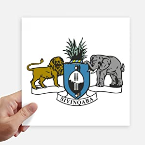 DIYthinker Swaziland Africa National Emblem Sticker Tags Wall Picture Laptop Decal Self Adhesive