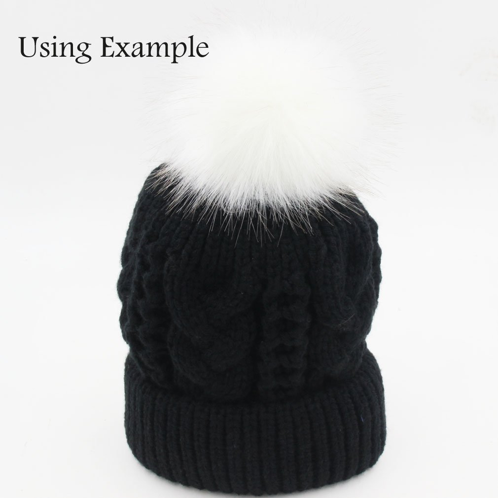 01739c69a50cbc Amazon.com  SUSULU DIY 12pcs Faux Fox Fur Fluffy Pompom Ball for Hats Shoes  Scarves Bag Charms (Popular Mix Colors)  Arts