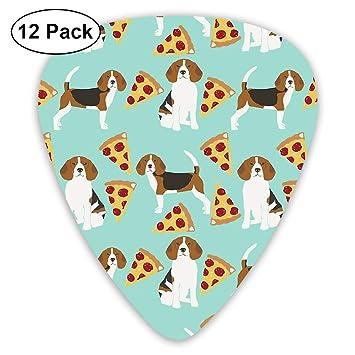 Amazon.com: LiuYiFeii Beagle Pizza Dog 12pcs Guitar Picks ...