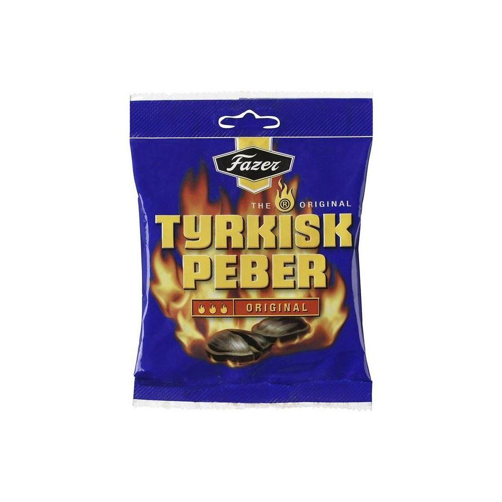 Fazer Tyrkisk Peber Original Hot Salmiak & Pepper Candy (150g) - Pack of 6