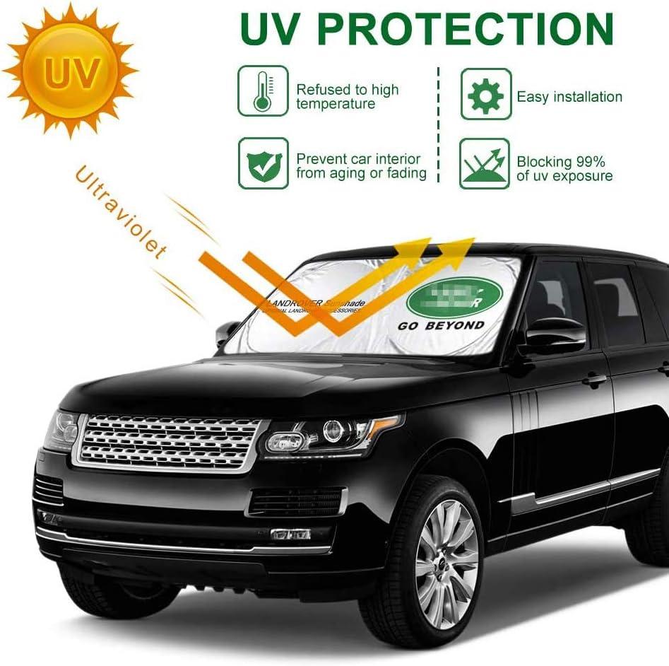 Bloque la lumi/ère du Soleil Forte et aux Rayons UV Pare-Brise-Soleil 62,9 X 33,4 /« /» Pliable Pare-Soleil Protecteur pour Range Rover 2006-2021 SUV
