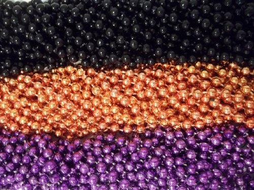 Mardi Gras Treats (36 Halloween Treats Mardi Gras Beads Purple Black Orange Necklaces)