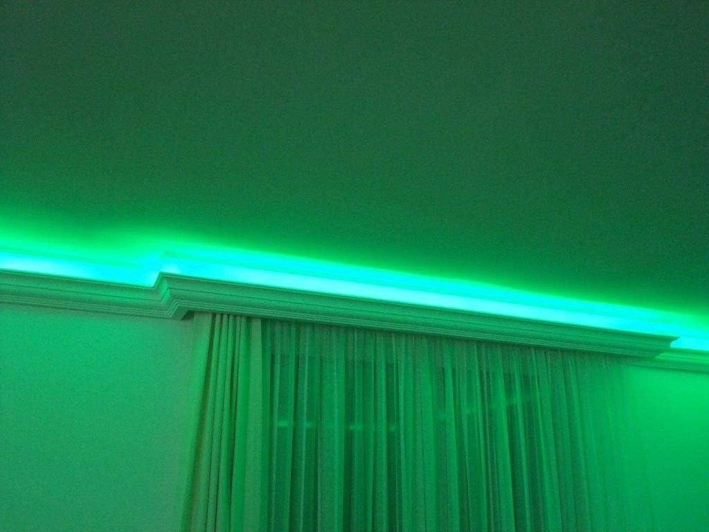1 Au/ßenecke LED Leiste indirekte Beleuchtung Styropor Leiste passend zur BL14