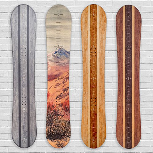 Growth Chart Art | Wooden Snowboard Height Chart for Kids, Boys, Girls for Measuring Height of Kids, Nursery Wall Decor | Baby Snowboard | Traditional Wood by Growth Chart Art
