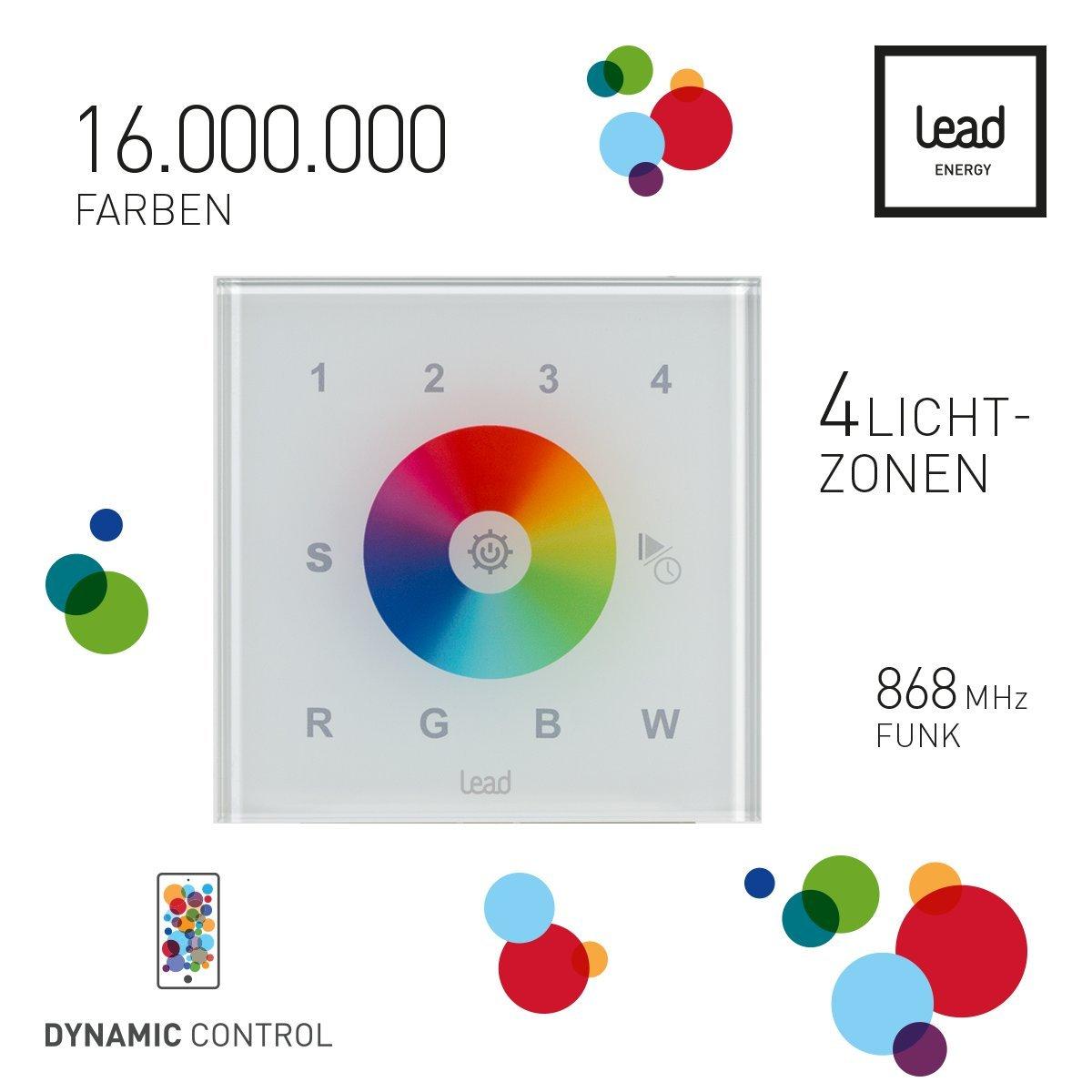 LEAD energy Funk Lichtschalter | Glas Touch Lichtschalter | App WCC ...