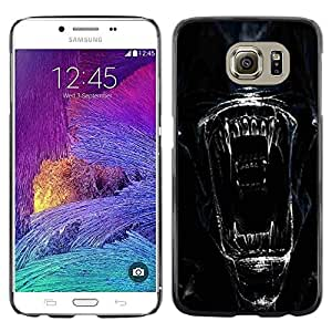 Impact Case Cover with Art Pattern Designs FOR Samsung Galaxy S6 Alien Face Close Up Betty shop