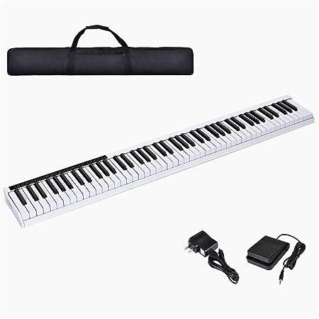 Ning Night 88 Tecla del Teclado de Piano portátil Bluetooth ...