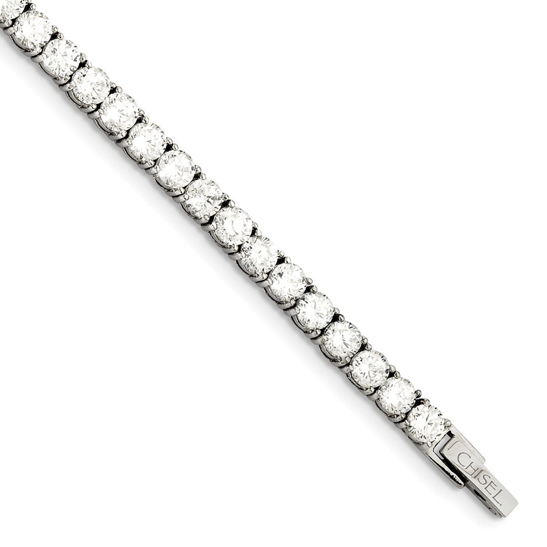 ICE CARATS Stainless Steel Cubic Zirconia Cz 7.5 Inch Bracelet Fashion Jewelry Ideal Mothers Day Gifts For Mom Women Gift Set From Heart