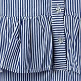 Isped Girls Striped Sleeveless Shirts with Ruffle