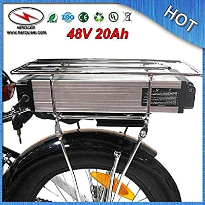 48V 20AH Lithium Battery 1000W Electric bicycle Scooter Rear rack Power