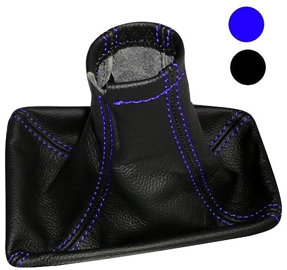Negro AERZETIX Funda para palanca de cambios 100/% Piel genuina negro con costuras de colores diferentes