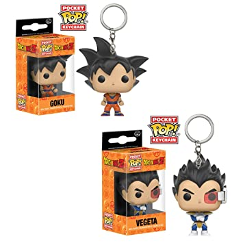 Funko bolsillo Pop. Llavero Dragon Ball Z Goku y Vegeta ...