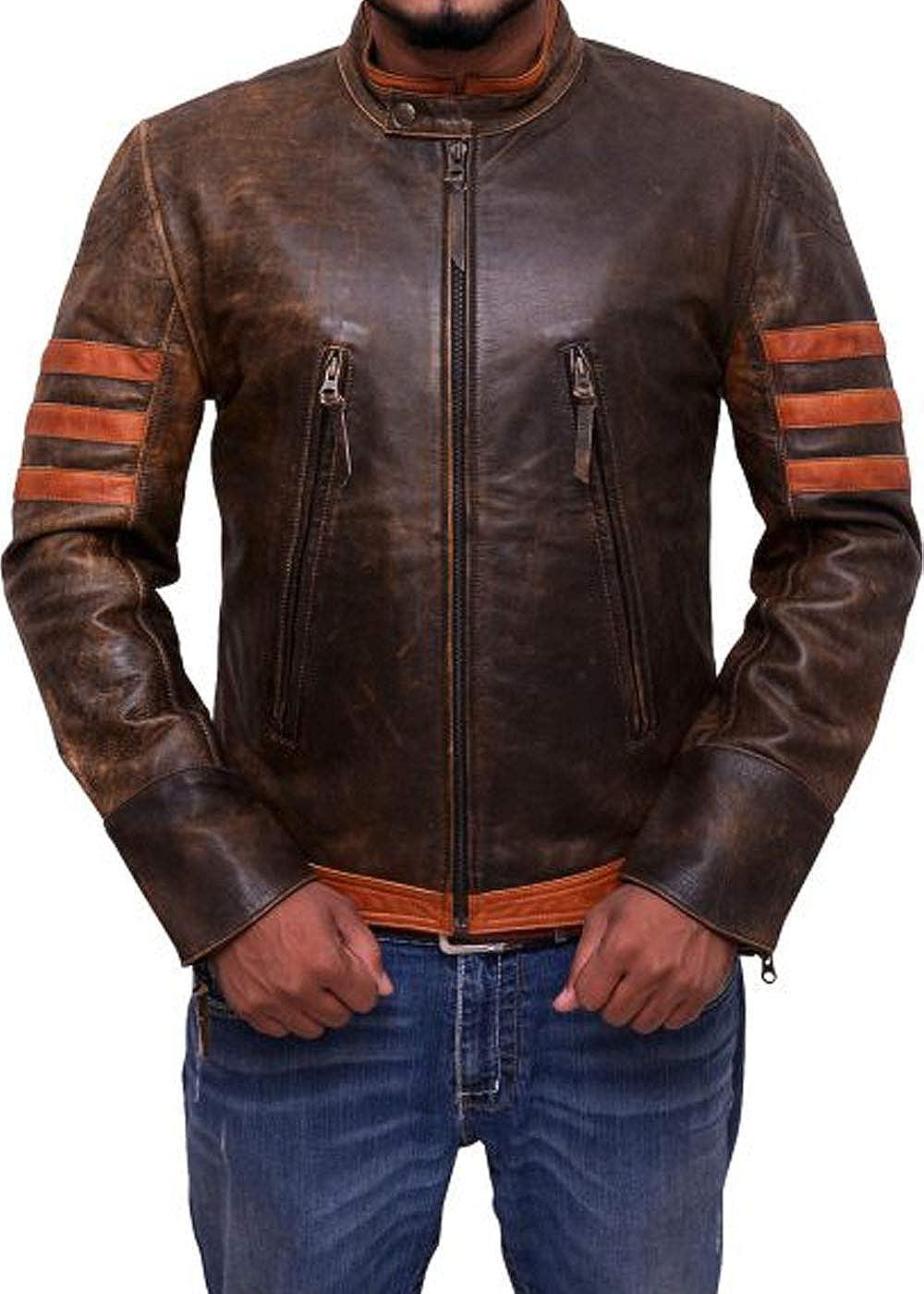 LEATHER NEXT Wolverine X-Men Origins Hugh Jackman Leather Jacket IN STOCK