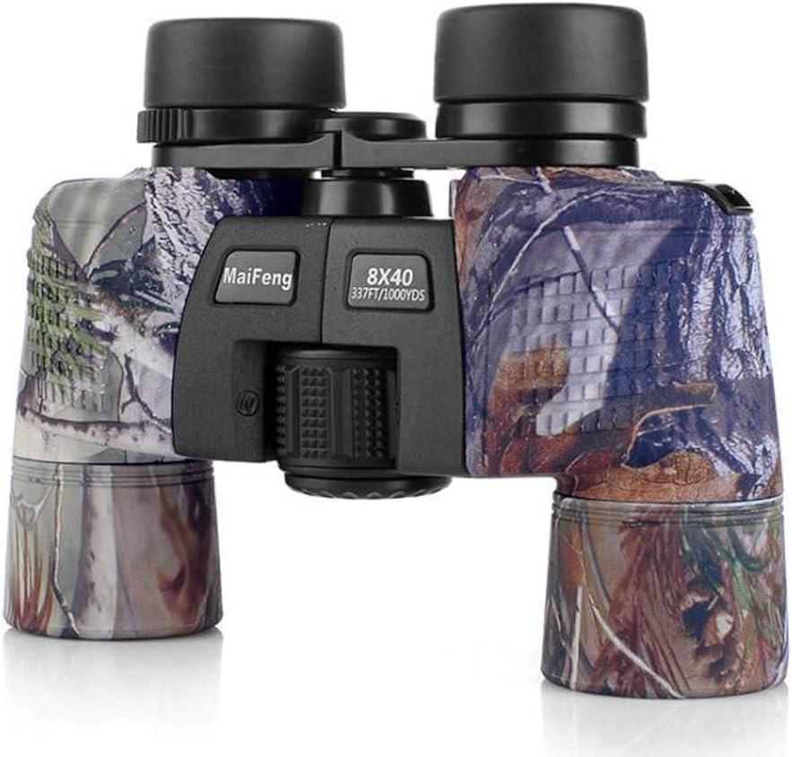 TMBDYE Binoculares 8x40, con telescopio de visión Nocturna, telescopio Impermeable de Aumento HD, para Viajes, observación de Aves, astronomía, Deportes y Vida Silvestre,C