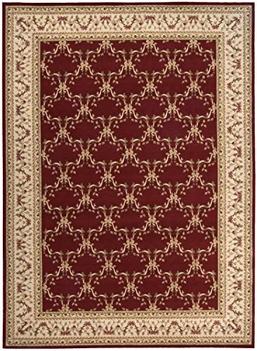 Nourison Ashton House Burgundy Rectangle Area Rug, 7-Feet 9-Inches by 10-Feet 10-Inches 7 9 x 10 10