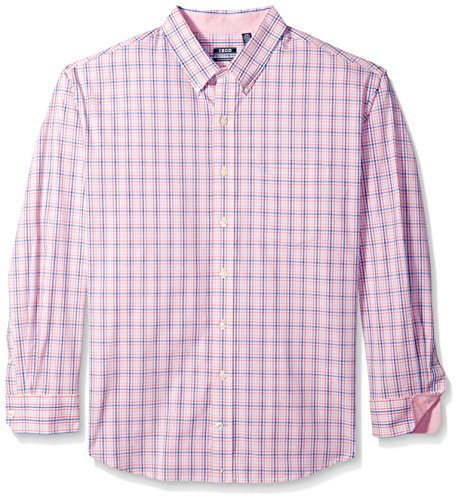 IZOD Men's IZOD Men's Premium Performance Natural Stretch Check Long Sleeve Shirt (Big & Tall and Tall - Big Tall Clearance And
