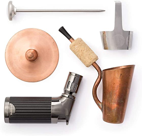 BRIPE- Coffee Brew Pipe Kit, Portable Outdoor Coffee Maker, Torch Lighter Included, make coffee without a kettle