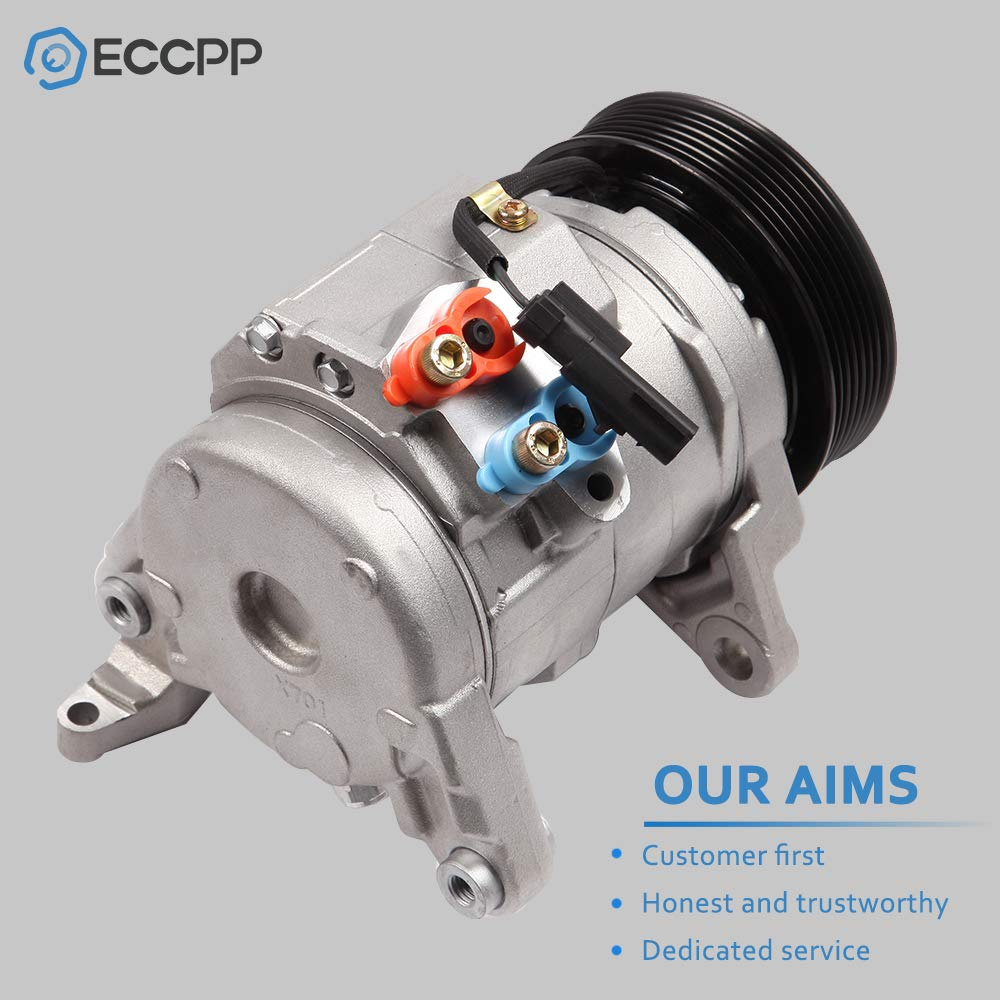 ECCPP Compatible fit for New A//C Compressor with Clutch CO 10802C FOR 2003-2008 Dodge Ram 1500 2500 3500 V8 5.7L Compressors