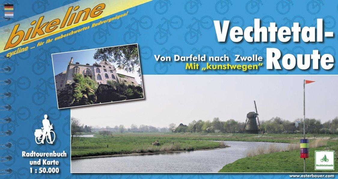 Bikeline Vechtetal-Route. Von Darfeld nach Zwolle. Mit kunstwegen. 1 : 50 000.