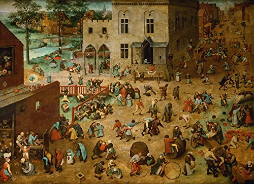 Elder Pieter Childrens Games - Berkin Arts Pieter Bruegel the Elder Giclee Canvas Print Paintings Poster Reproduction(Children Games)