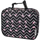 Insulated Durable Lunch Box Sleeve - Reusable Lunch Bag - Securely Cover Your Bento Box, Works with Bentology Bento Box, Bentgo, Kinsho, Yumbox (8'x10'x3') - Flamingo