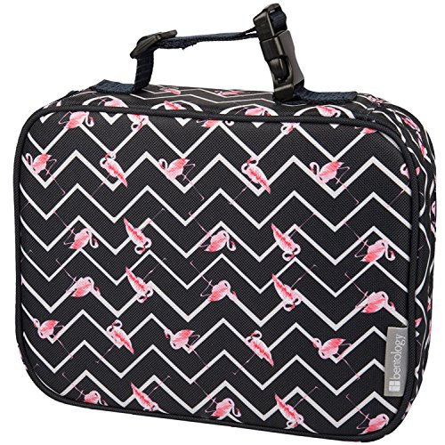 Insulated Lunch Box Sleeve - Securely Cover Your Bento Box - Flamingo