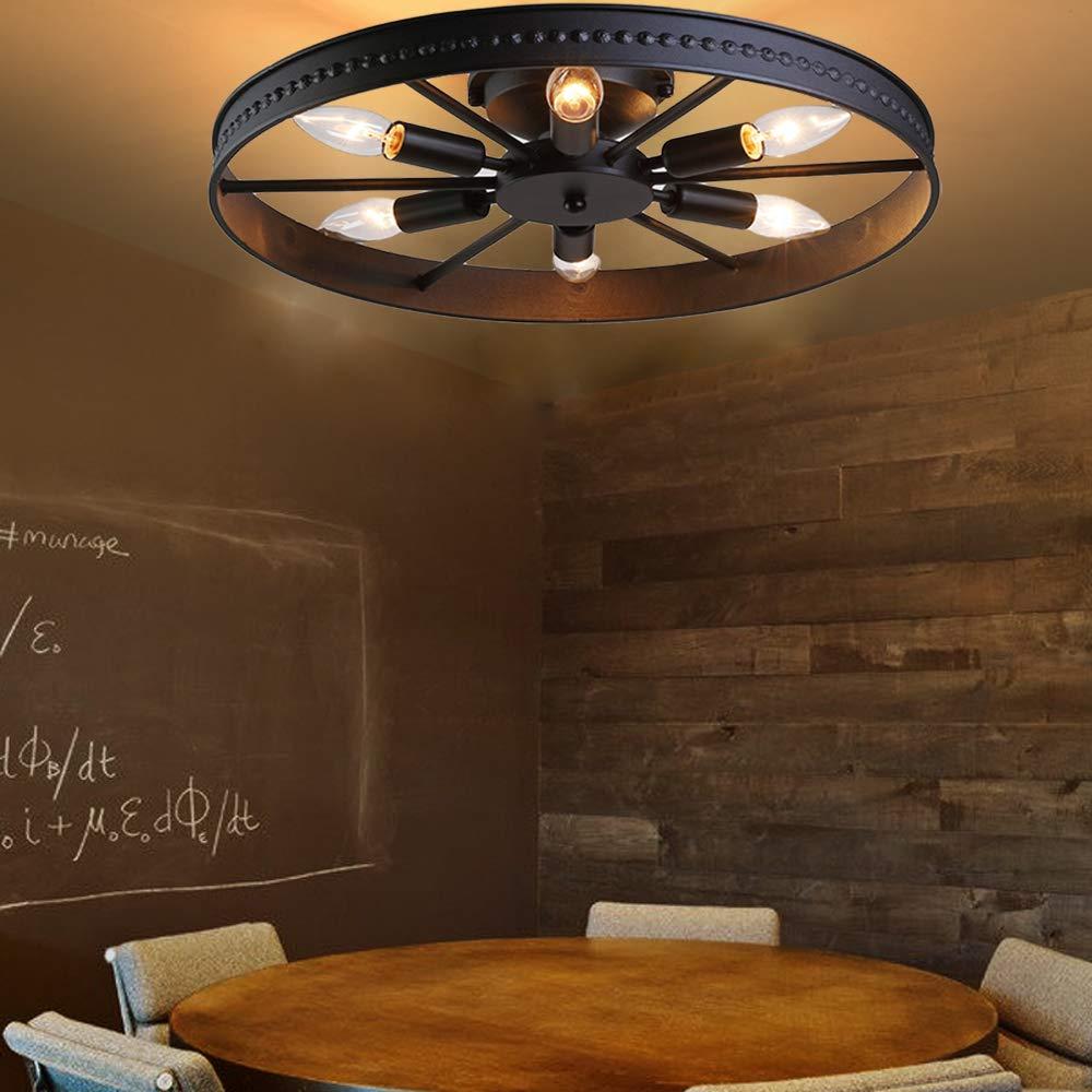 60 W Retro Rad Deckenlampe 8-Flammig Deckenleuchte /Ø68cm-Anh/änger nicht inklusive(8-Flammig) Eisen Runde Vintage Schlafzimmerlampe /Ø68cm Antik Esszimmerlampe E14 Max Ring Wohnzimmer Lampe