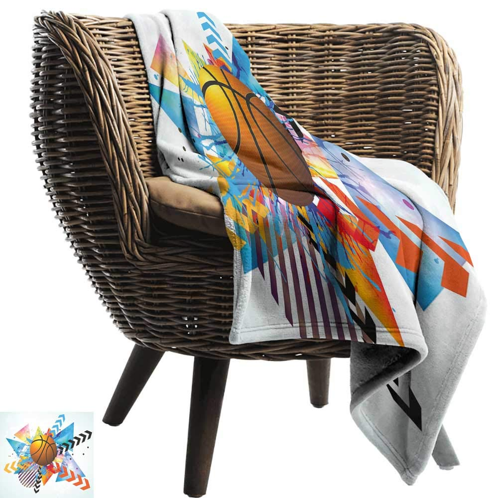WinfreyDecor ティールブランケット シーツ 伝統的なモロッコ文化模様 格子柄 四つ葉モチーフ 鮮やかな色 レトロ ソファ 椅子 マルチカラー 91