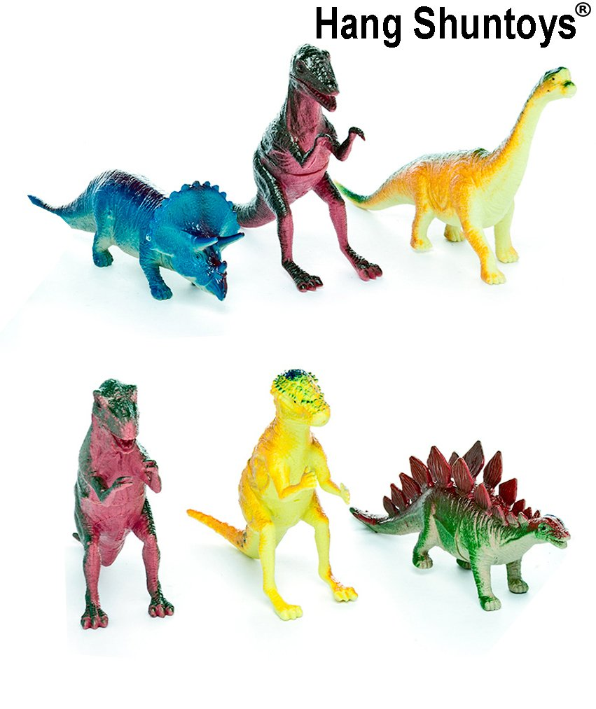 buy dinosaurs animals plastic toys for kids 6 pcs pack online