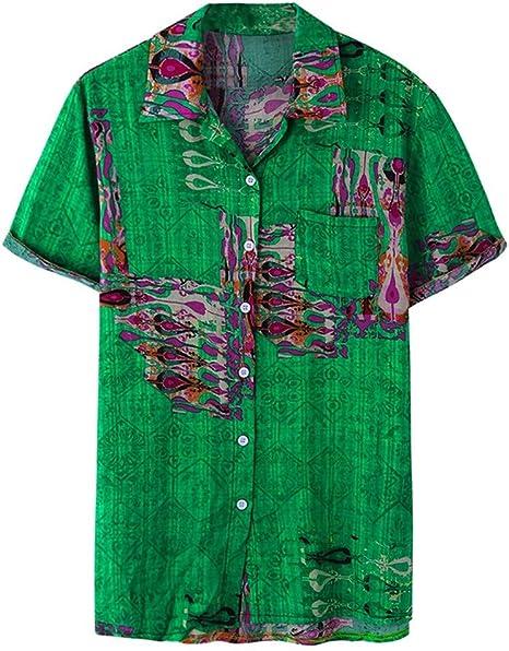 AG&T Camisa Hawaiana Florar Casual Manga Corta Ajustado para Hombre Cierre con Boton Camisa de Vestir Hombre Camiseta Casual Camisa de Manga Corta, Varios Estilos: Amazon.es: Deportes y aire libre