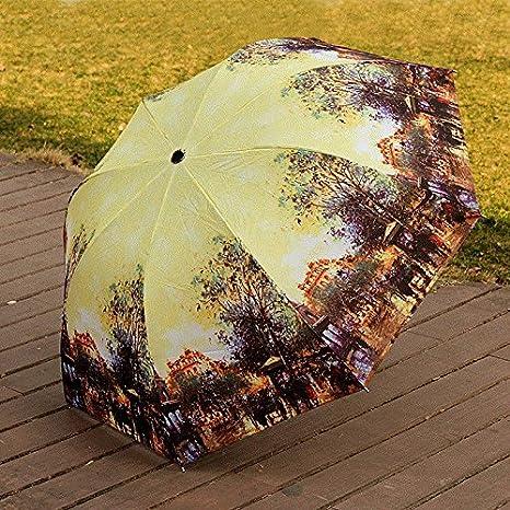 Sasan Europeos y Americanos de la Personalidad creadora de Aceite Paraguas paracaídas 70% Off Sol Paraguas Paraguas Paraguas Super Ligero para Hombres, Huevo ...