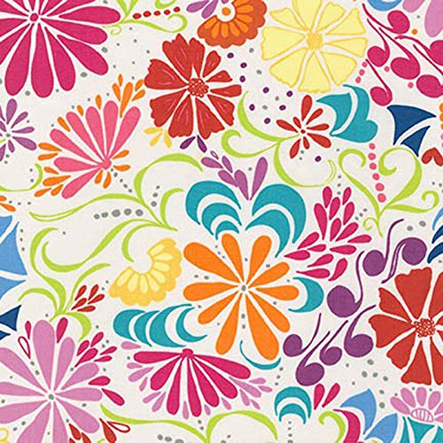 FidgetKute Floral Summer by Yard Show One Size