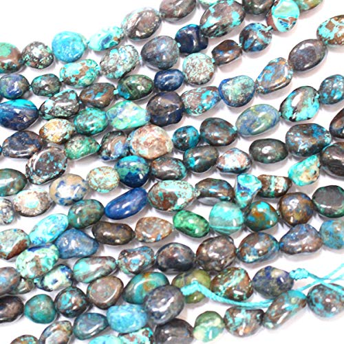Natural Gemstone Beads Nuggets 8-10mm for Jewelry Making Loose Beads (Chrysocolla)